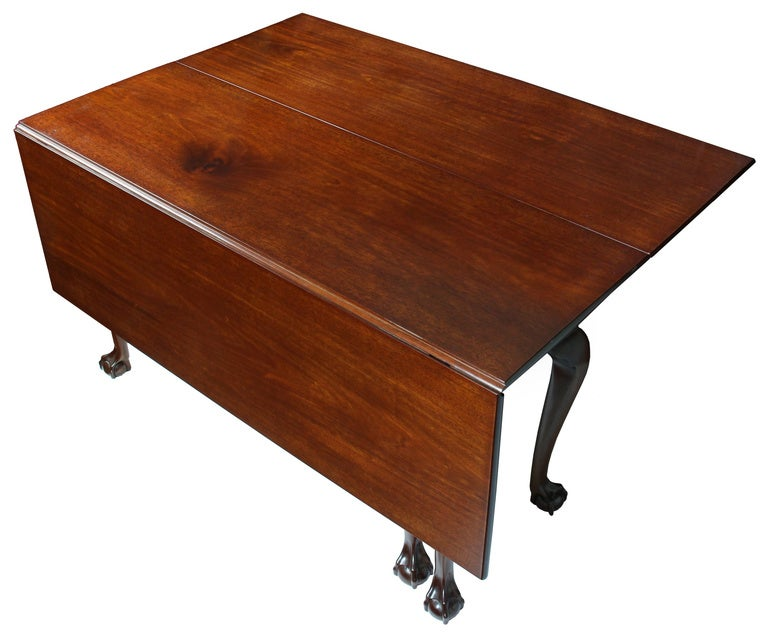 Six-legged dining tables are very desirable and relatively rare. They offer an obviously greater stability than the four-legged form and cost a good deal more.
