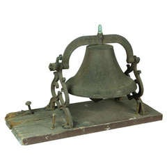 Large School or Church Bell with Mounting Base, New England