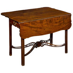 Mahogany Chippendale George II Pembroke Table Porringer Top, England, circa 1780