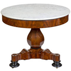 Center Table With A Painted Ceramic Scagliola Top Boston
