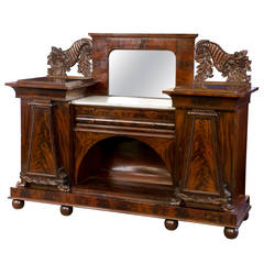 Classical Carved Mahogany Sideboard, Baltimore, circa 1820