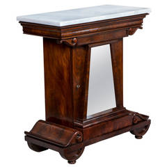 Mahogany and Marble Mixing Table, Attributed to Anthony Quervelle, circa 1820