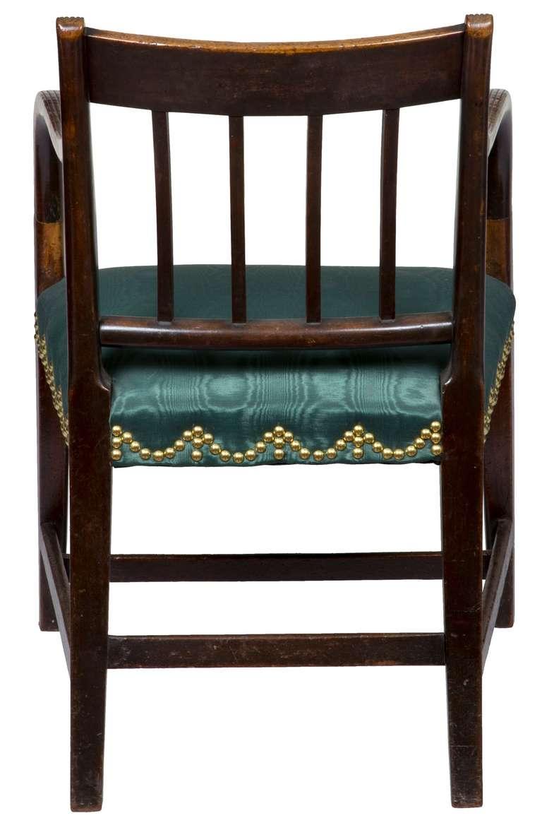 Mahogany English Regency Armchair, circa 1810 For Sale 1