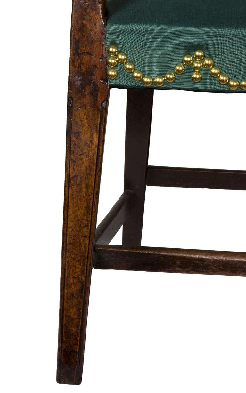19th Century Mahogany English Regency Armchair, circa 1810 For Sale