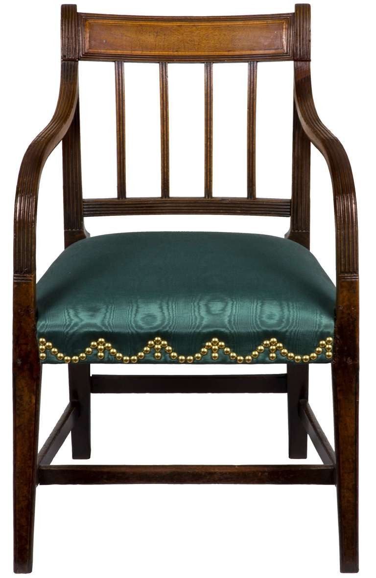 Mahogany English Regency Armchair, circa 1810 In Excellent Condition For Sale In Providence, RI