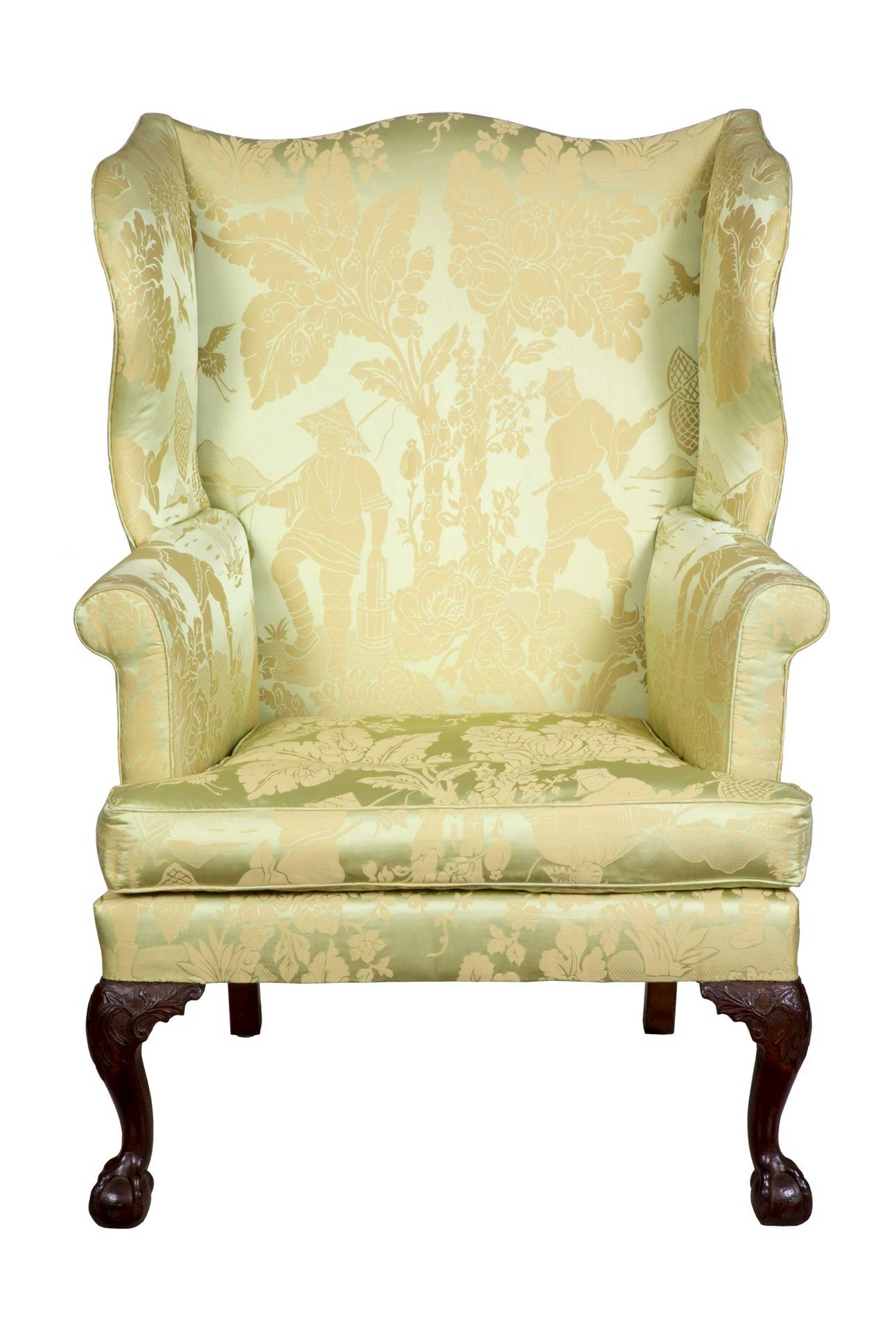 Beau This Is A Fully Developed Chippendale Wing Chair Of Good Size With  Beautifully Carved Claw And