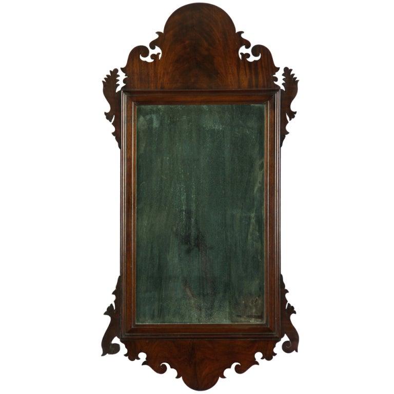 Mahogany Queen Anne Mirror, American or English, circa 1760