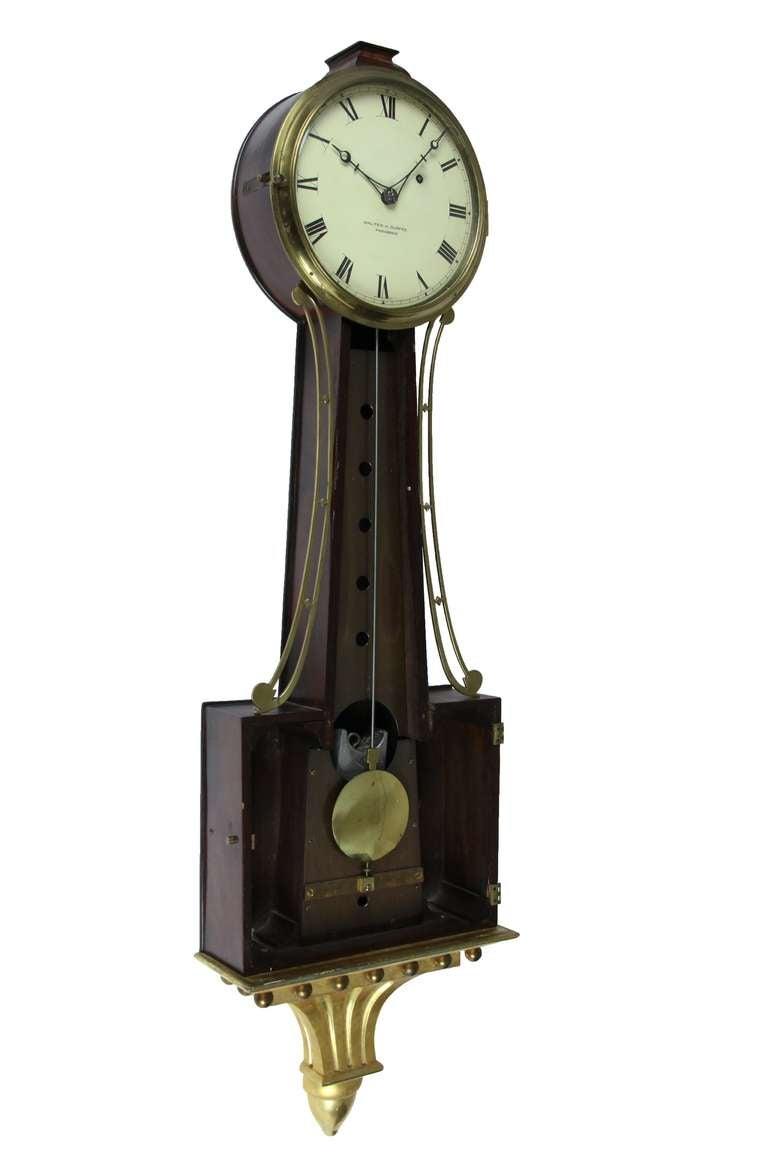Patent Timepiece Banjo Clock Providence Ri By Walter H