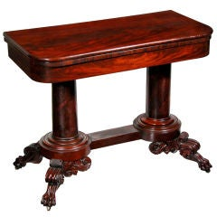 Classical Carved Mahogany Card Table