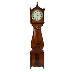 Regency Lyre Tall Case Block and Shell Clock
