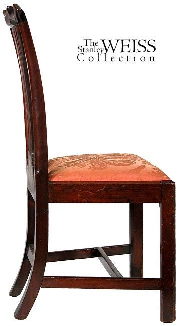 American Set of Six Carved Mahogany Chippendale Side Chairs, Philadelphia, circa 1780 For Sale