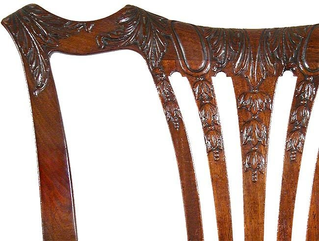 Set of Six Carved Mahogany Chippendale Side Chairs, Philadelphia, circa 1780 In Excellent Condition For Sale In Providence, RI