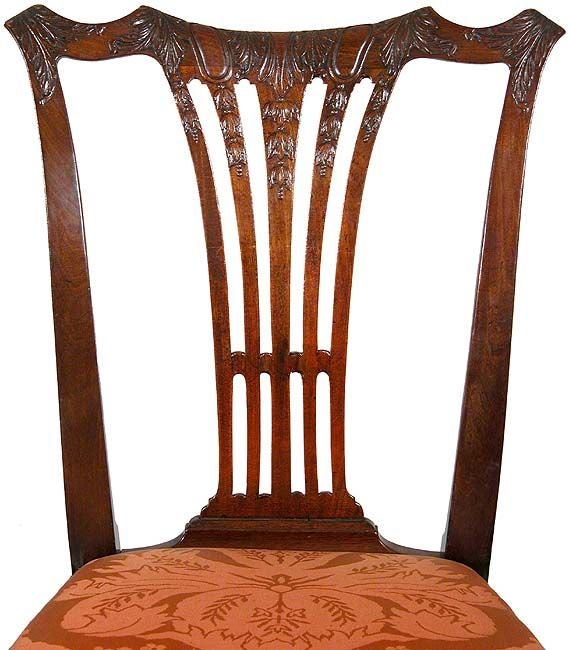 18th Century Set of Six Carved Mahogany Chippendale Side Chairs, Philadelphia, circa 1780 For Sale