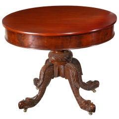 Carved Mahogany Classical Center Table, Albany, NY