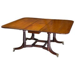 Classical Mahogany Cumberland Table Attributed to Thomas Seymour, Boston