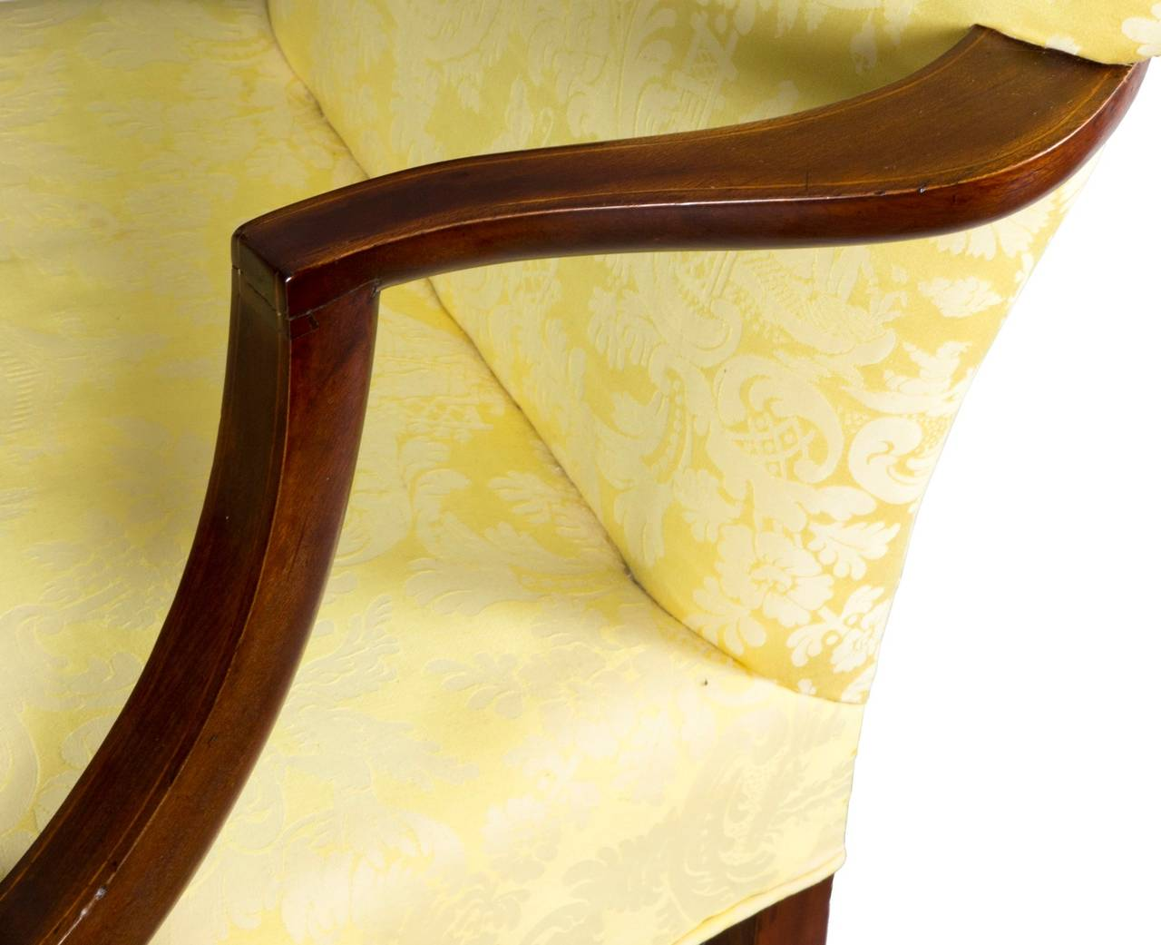 This israel sack american federal mahogany antique lolling arm chair - Chippendale Lolling Chair With String Inlay Probably New Hampshire Circa 1780 2