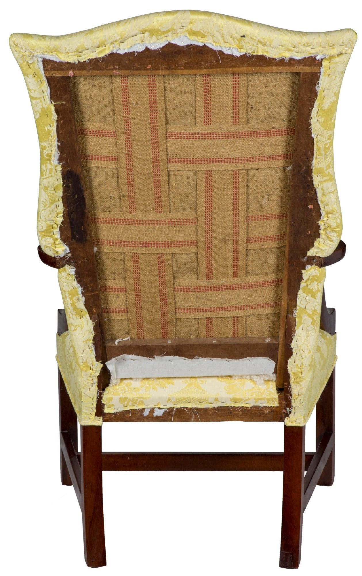 This israel sack american federal mahogany antique lolling arm chair - Chippendale Lolling Chair With String Inlay Probably New Hampshire Circa 1780 3