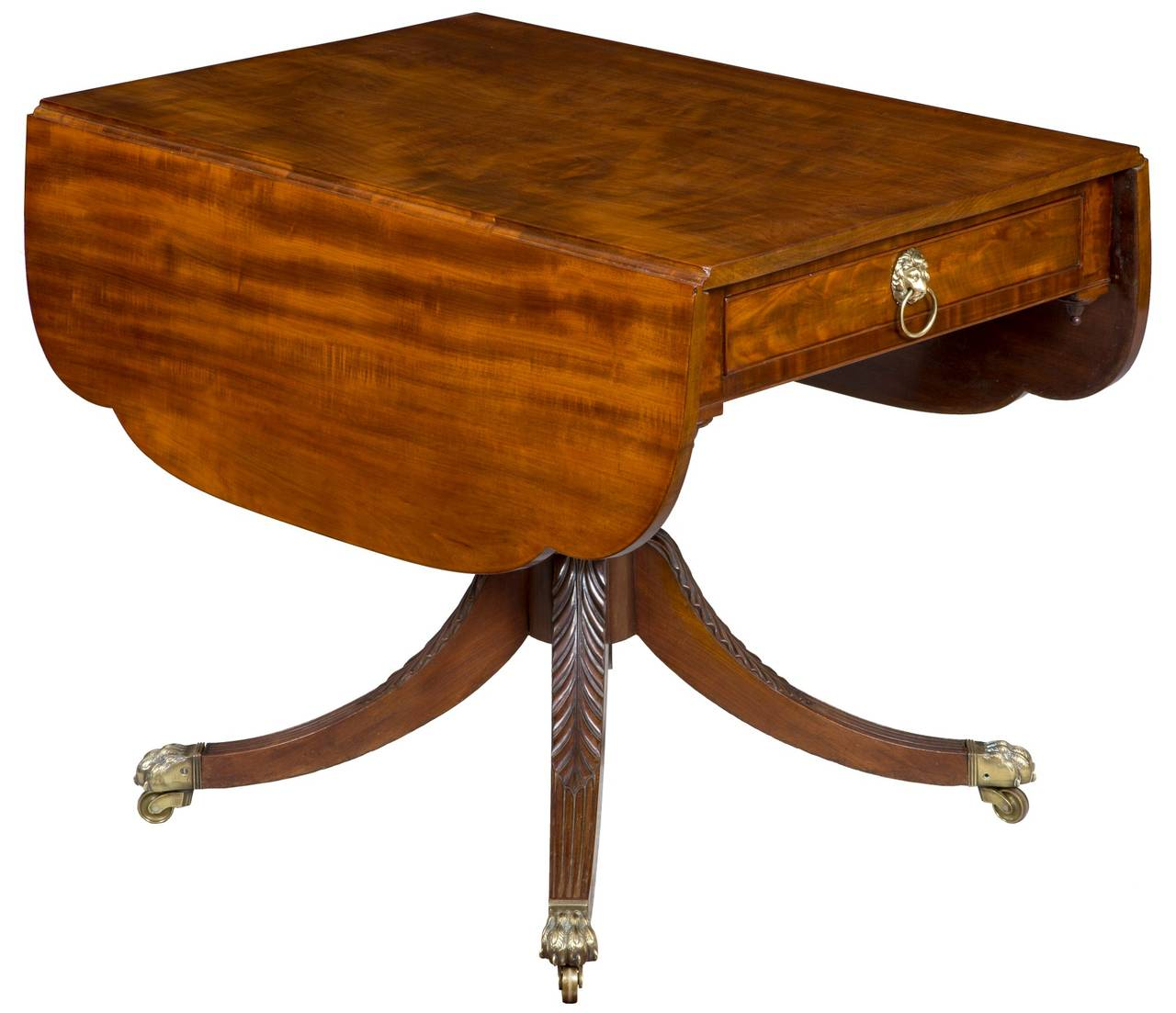 Mahogany classical drop leaf table new york circa 1810 for Table new york