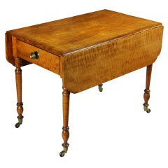 Tiger Maple Sheraton Pembroke Table, circa 1810