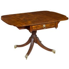 Mahogany Classical Drop-Leaf Table, New York, circa 1810-1820