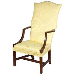 Chippendale Lolling Chair with String Inlay, Probably New Hampshire, circa 1780