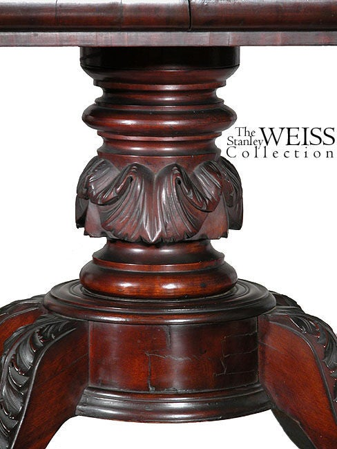 19th Century Carved Mahogany Classical Card Table, Probably New York, circa 1820 For Sale