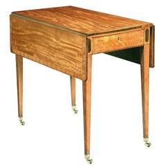 Hepplewhite Satinwood Pembroke Table with Rosewood Inlay
