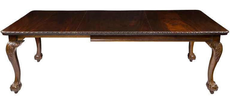 mahogany chippendale style dining room table late 19th