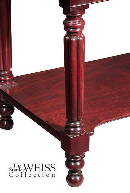 Mahogany Classical Serving Table with Original Brasses 5