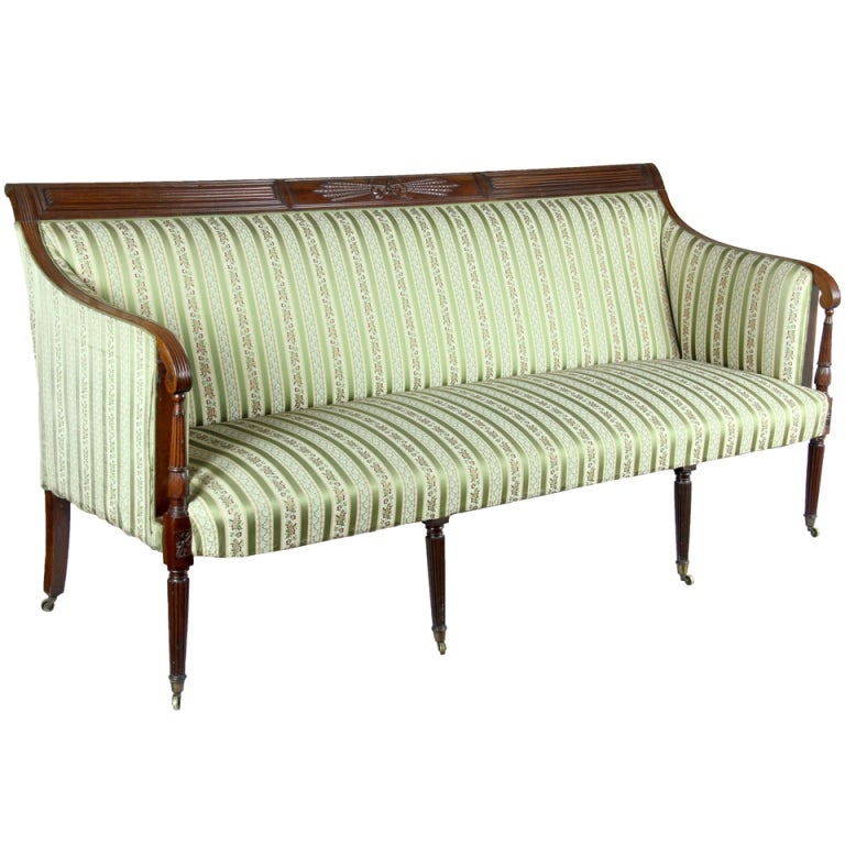 Carved Mahogany Sofa, New York, Possibly Phyfe, circa 1810