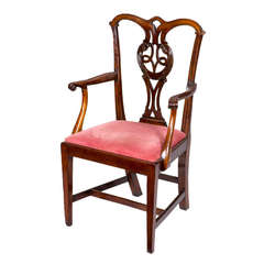 Chippendale, George III, Mahogany Armchair, circa 1790