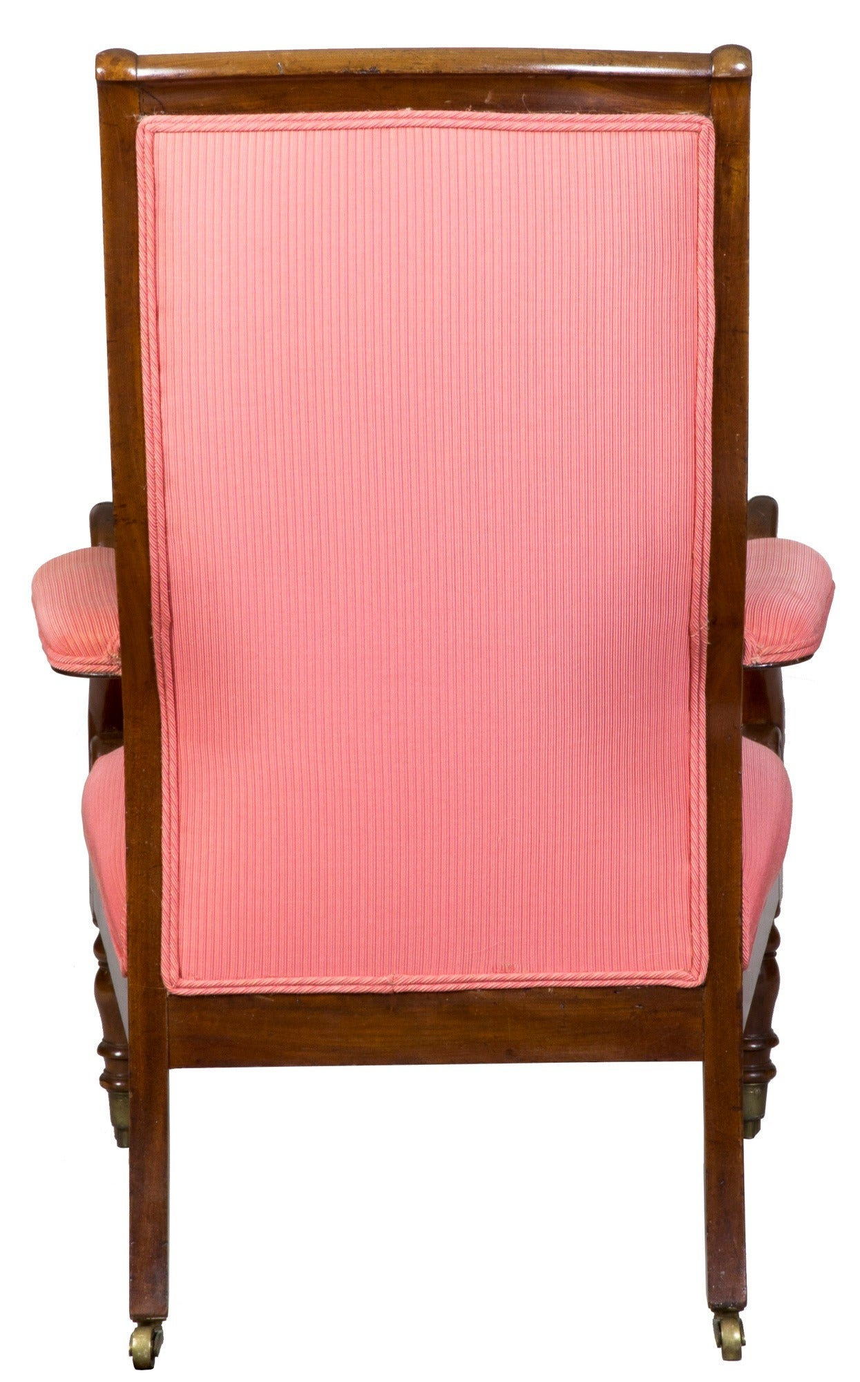 This israel sack american federal mahogany antique lolling arm chair - Mahogany Neoclassical Armchair Or Lolling Chair Attributed To Duncan Phyfe 3
