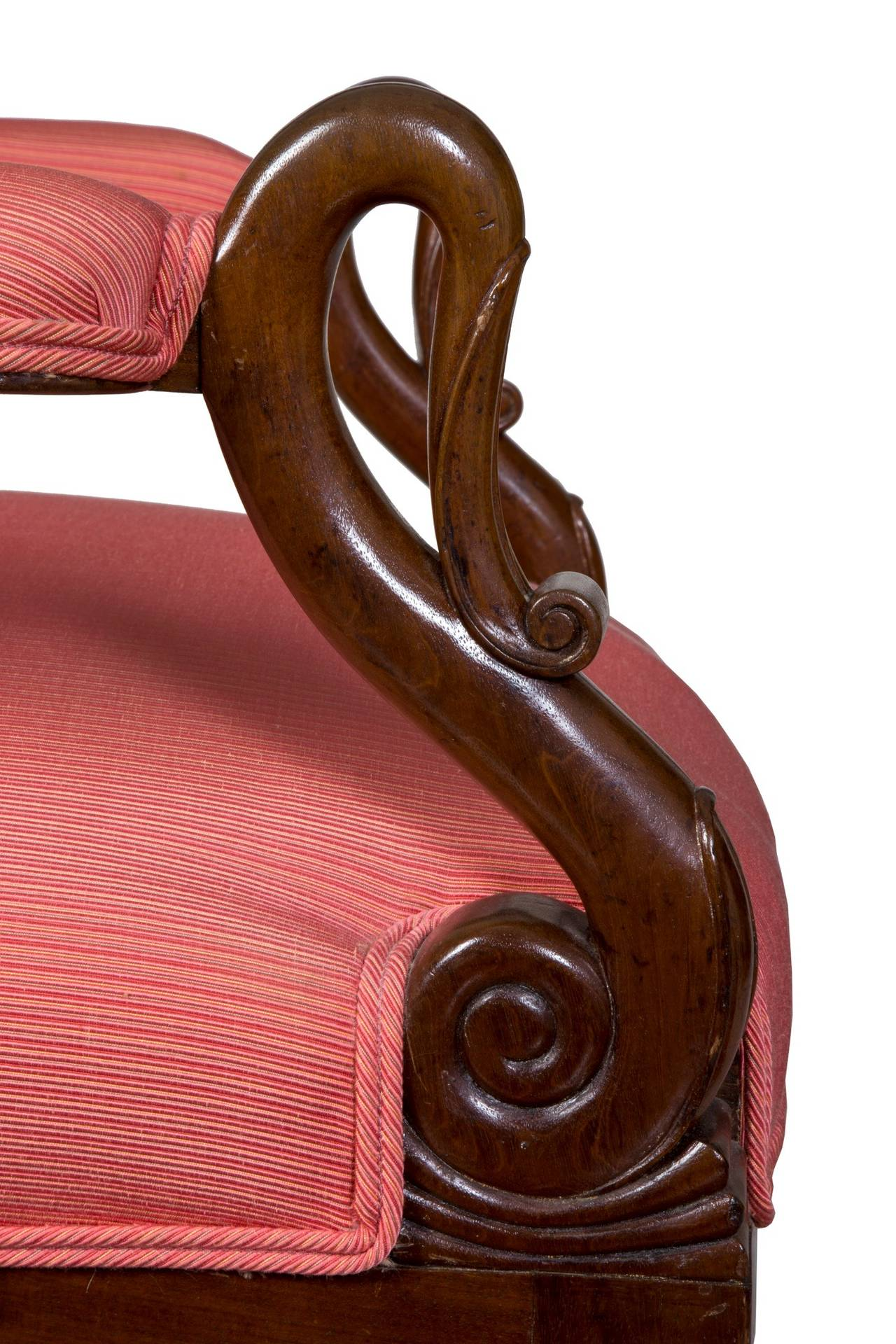 Mahogany Neoclassical Armchair or Lolling Chair Attributed to Duncan Phyfe For Sale 1