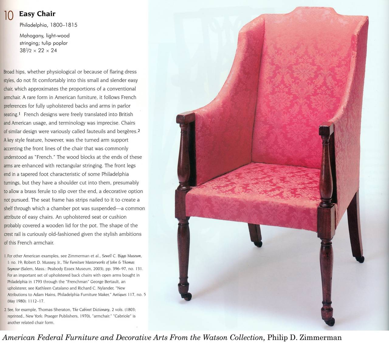 Rare Carved Mahogany Upholstered Classical Armchair, Possibly Southern For Sale 3