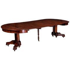 Figured Rosewood Dining Room Table, Cornelius Briggs, Boston, circa 1830