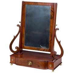 Desirable Classical Shaving Mirror, Massachusetts, circa 1810