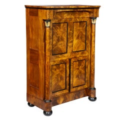 Classical Burled Walnut Secretaire a Abattant, Boston, c.1820-25,  Hidden Drawer