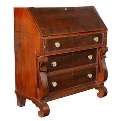 Slant-Top Desk with Gothic Scroll Embellishment, New England