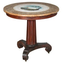 Center Table with a Painted Ceramic Scagliola Top, Boston