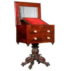 Classical Carved Mahogany Empire Work Table, NE