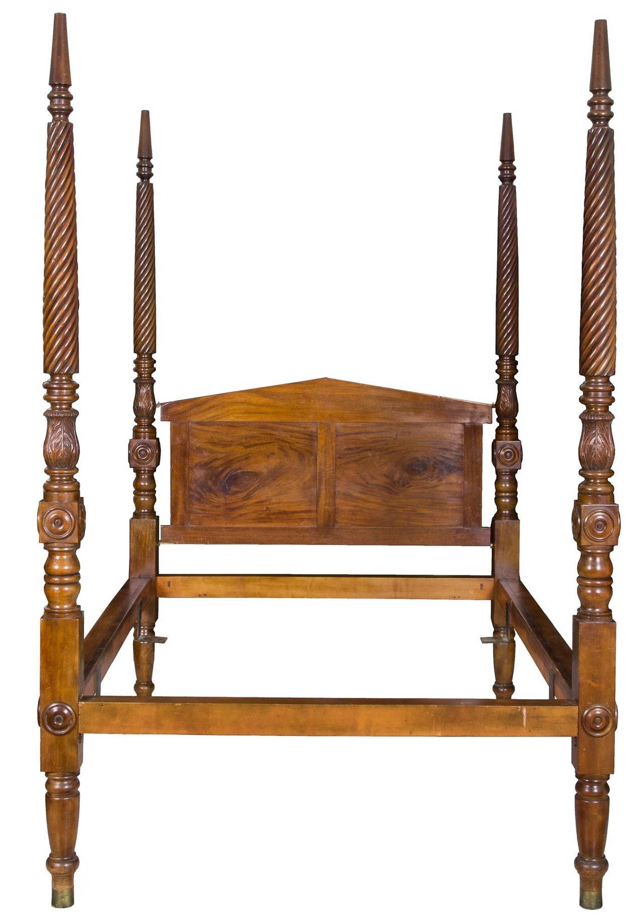 classical mahogany tall post wide custom queen size bed circa 1840 for sale at 1stdibs. Black Bedroom Furniture Sets. Home Design Ideas
