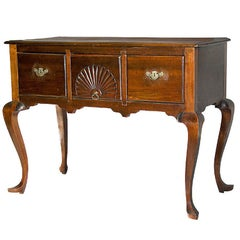 Carved Mahogany Queen Anne Server 'Highboy Base', NE