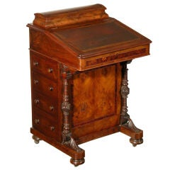A Burled Walnut Davenport Desk