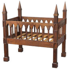 Gothic Crib, Black Walnut, United States, circa 1835-1845