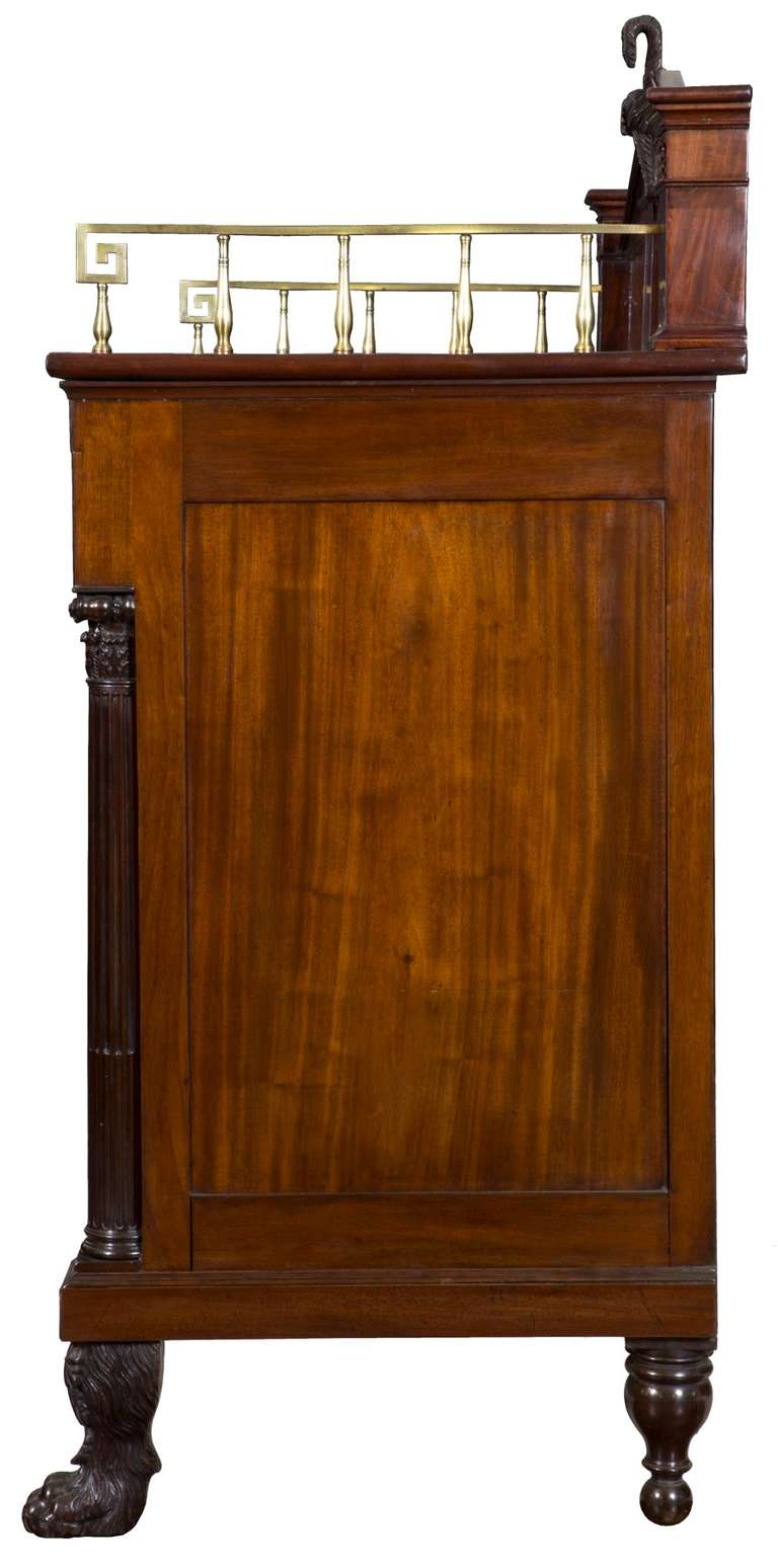 Classical sideboard of figured carved mahogany new york for Sideboard york