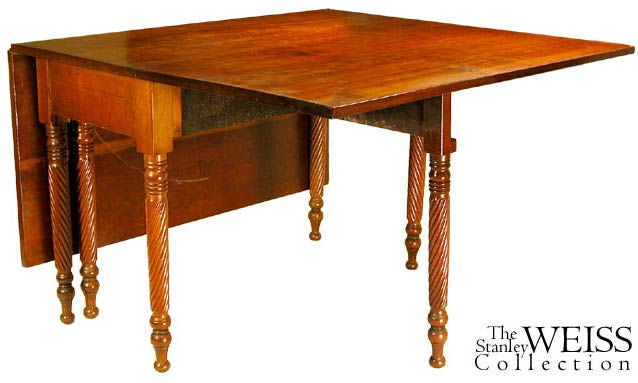 Federal Cherry Drop Leaf Dining Table With Rope Twist Ne