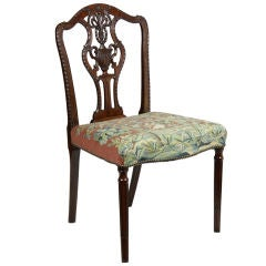 Fine Sheraton Carved Mahogany Side Chair