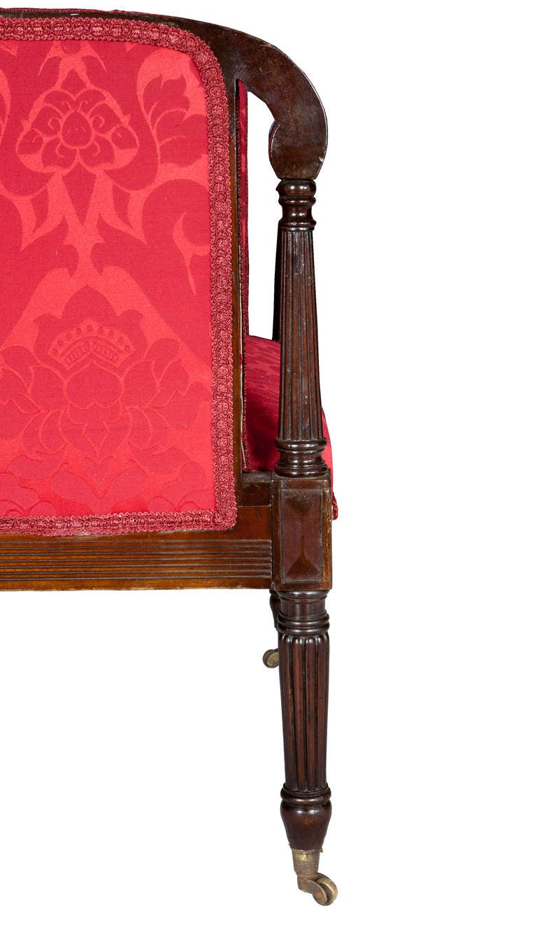 Rare Classical Federal Upholstered Armchair, Mahogany, New York 5