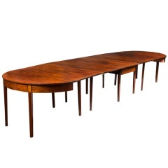 Federal Mahogany Hepplewhite Three-Part Banquet Dining Table, Southern