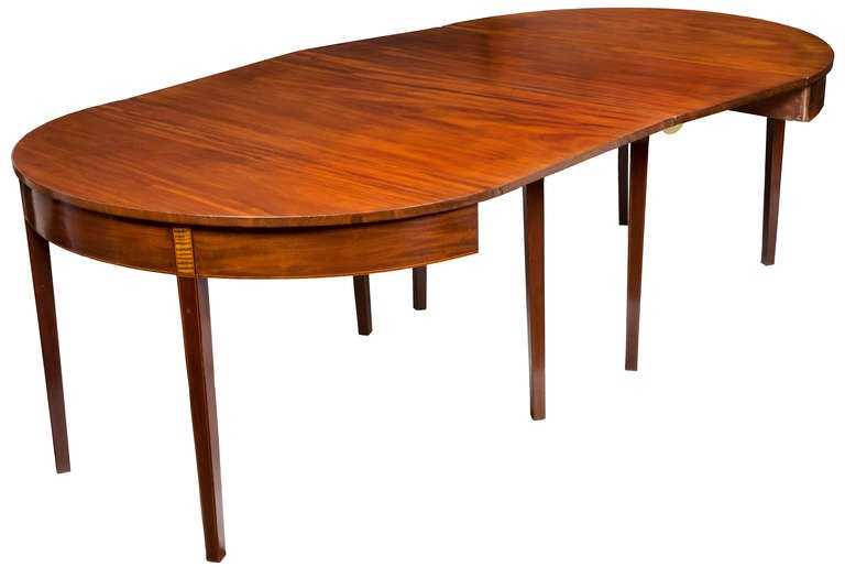 Federal Mahogany Hepplewhite Three Part Banquet Dining  : piece6roundtableextendedl from www.1stdibs.com size 768 x 515 jpeg 29kB